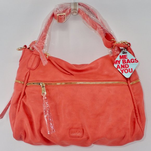 CO-LAB Handbags - CO-LAB by Christopher Kon Tote Coral Tote Leather